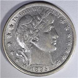 1895-O BARBER HALF DOLLAR  AU+