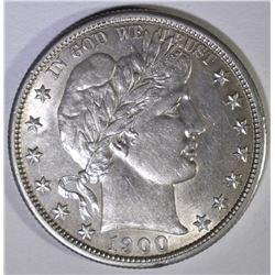 1900-S BARBER HALF DOLLAR  AU/BU
