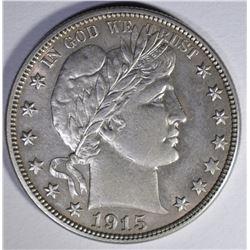 1915-S BARBER HALF DOLLAR  AU/BU
