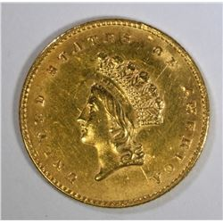 1854 GOLD $1.00 TYPE 2  CH BU