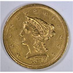 1877 $2 1/2 GOLD LIBERTY  CH BU