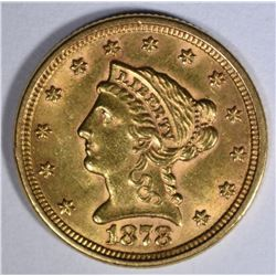 1878 $2 1/2 GOLD LIBERTY  CH BU+