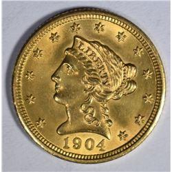 1904 $2 1/2 GOLD LIBERTY