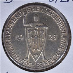 1925 D SILVER 3 MARKS GERMANY