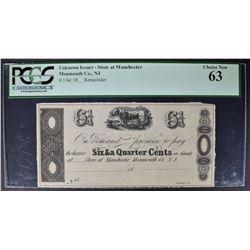 1800's 6 1/4 CENTS PCGS 63