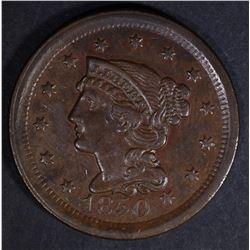 1850 LARGE CENT  AU/BU