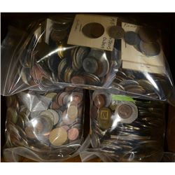 OVER 21 POUNDS OF FOREIGN COINS--UNSEARCHED