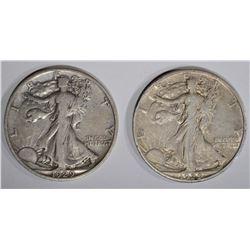 2 - WALKERS; 1929-S VF & 1929-D XF