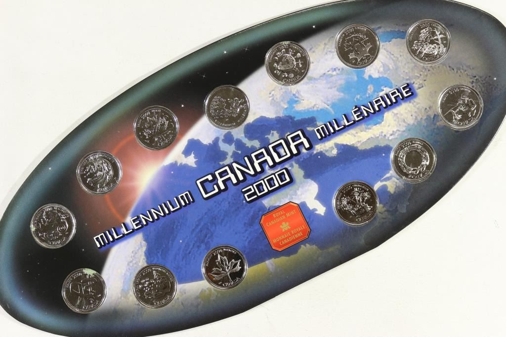 Millennium Canadian 2000 13 Quarter Set from Royal Canadian Mint Original Box