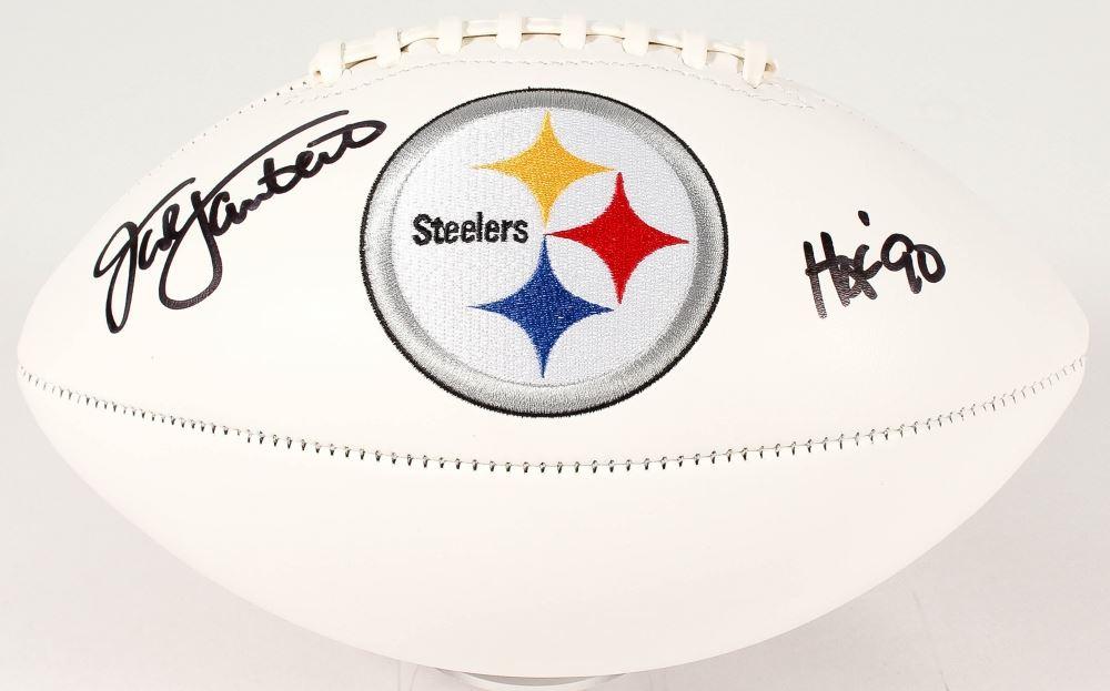 0eac06200b6 Loading zoom · Image 1   Jack Lambert Signed Steelers Logo Football  Inscribed