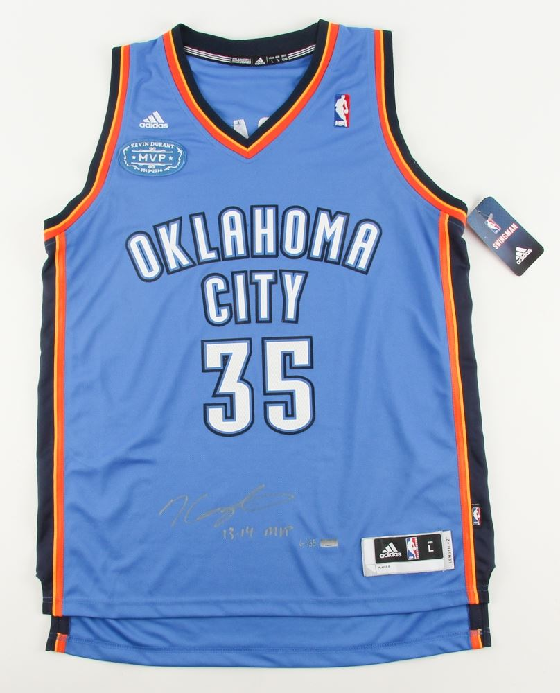 61c2d225220 Image 1   Kevin Durant Signed LE Thunder Adidas Jersey with 2013-2014 MVP  Patch