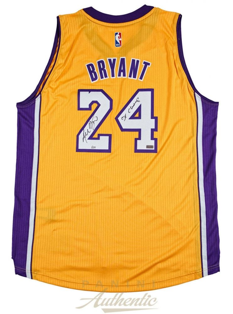 Kobe Bryant Signed Adidas Lakers Jersey Inscribed