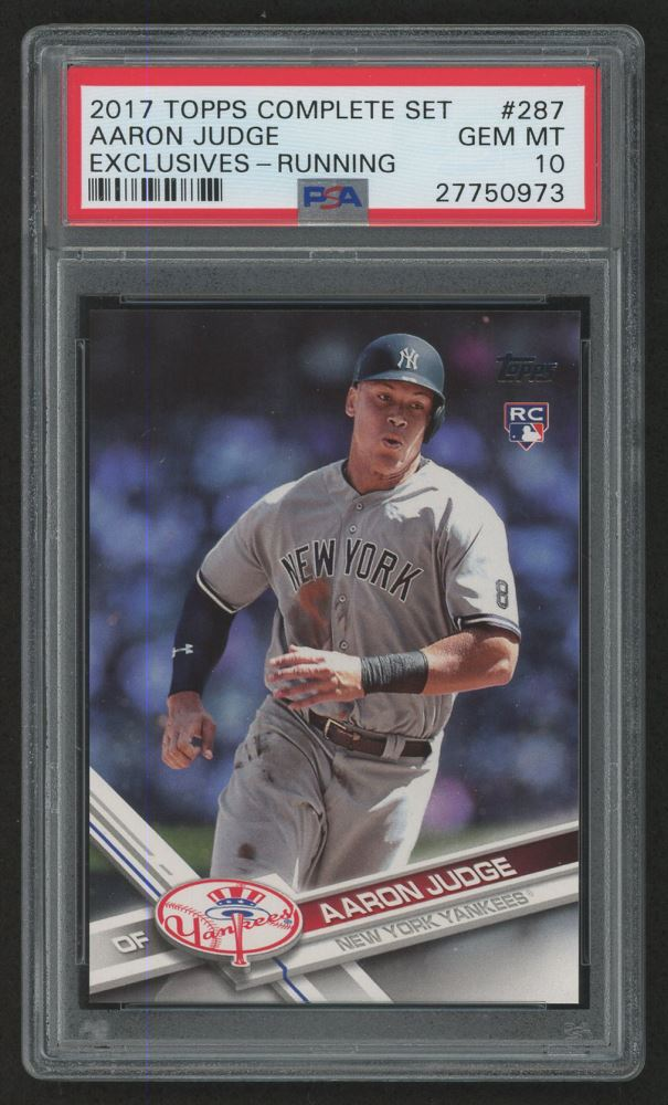 2017 Topps #287A Aaron Judge RC (PSA 10)