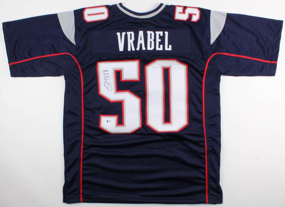 8e5932dedc5 Image 1 : Mike Vrabel Signed Patriots Jersey (Beckett COA)