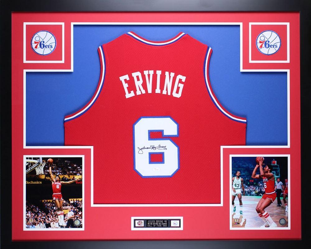 timeless design fcf0a 94b3b Julius Erving Signed 76ers 35