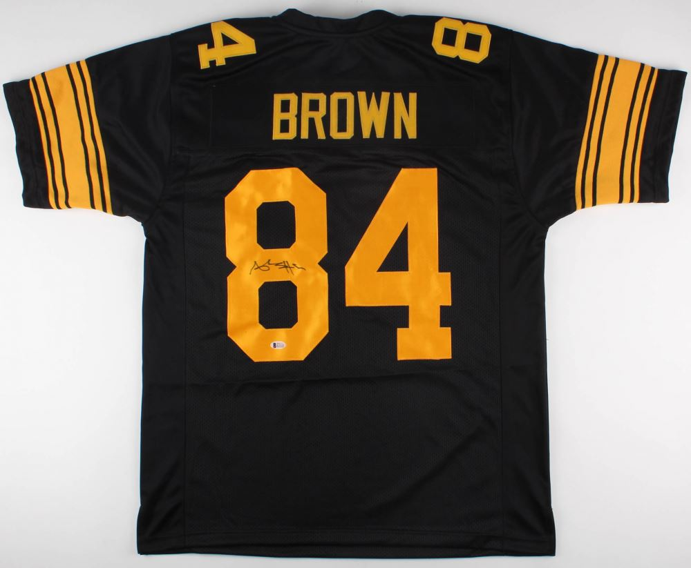 new styles 6054c 9ff39 Antonio Brown Signed Steelers Color Rush Jersey (Beckett ...