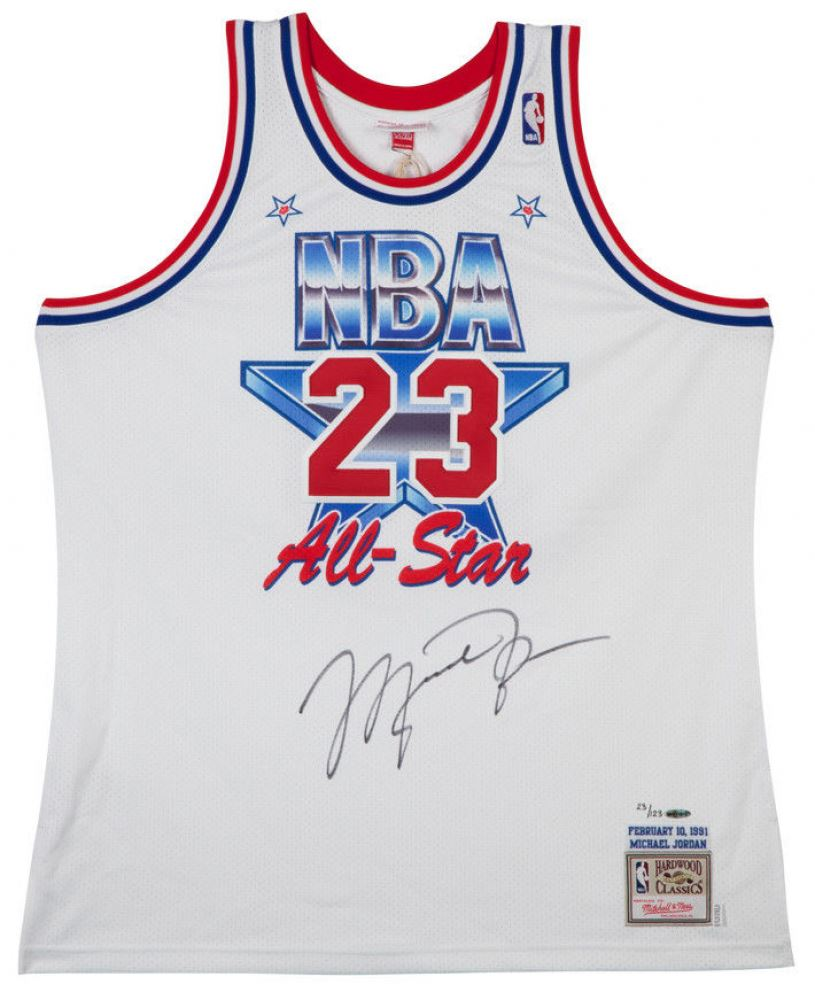 on sale 12ae8 6a7a7 Image 1   Michael Jordan Signed Limited Edition 1991 NBA All-Star Authentic  Jersey (