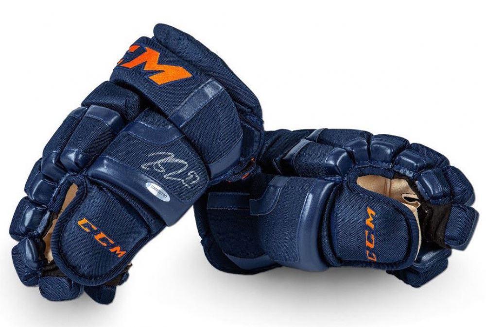 Connor McDavid Signed Pair of CCM Hockey Gloves (UDA