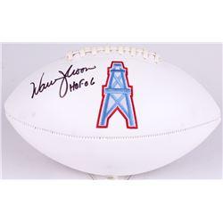 5599b6826 Warren Moon Signed Oilers Logo Football Inscribed