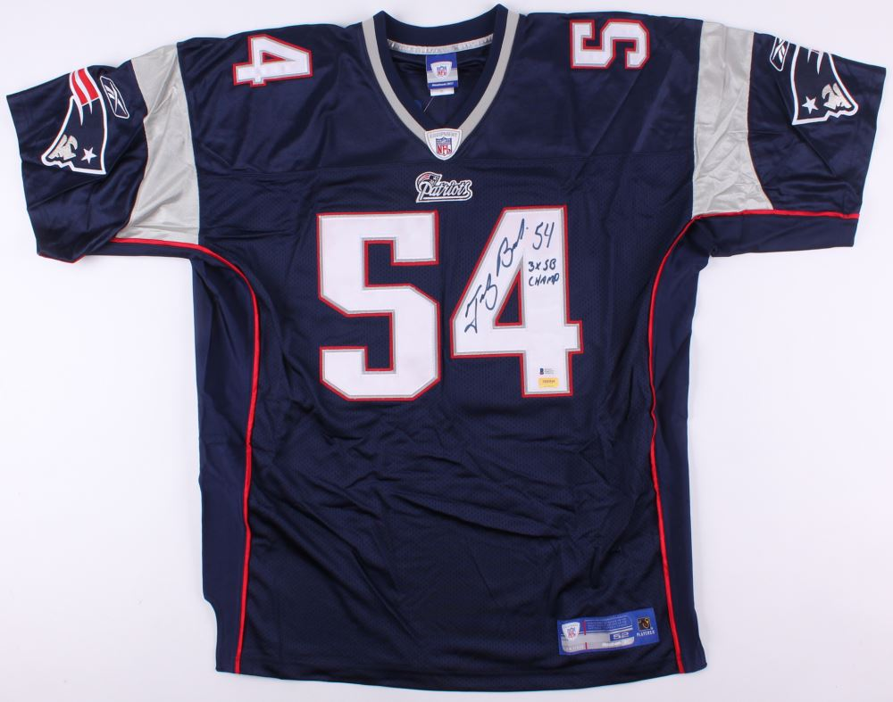 uk availability 20bbc 3ac1d Tedy Bruschi Signed Patriots Jersey Inscribed