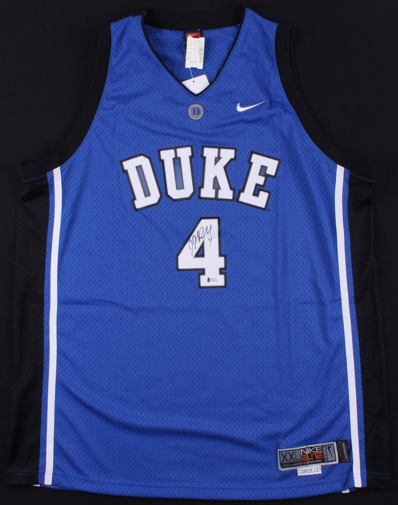uk availability 9e459 ebcc4 J.J. Redick Signed Duke Blue Devils Jersey (Beckett COA)