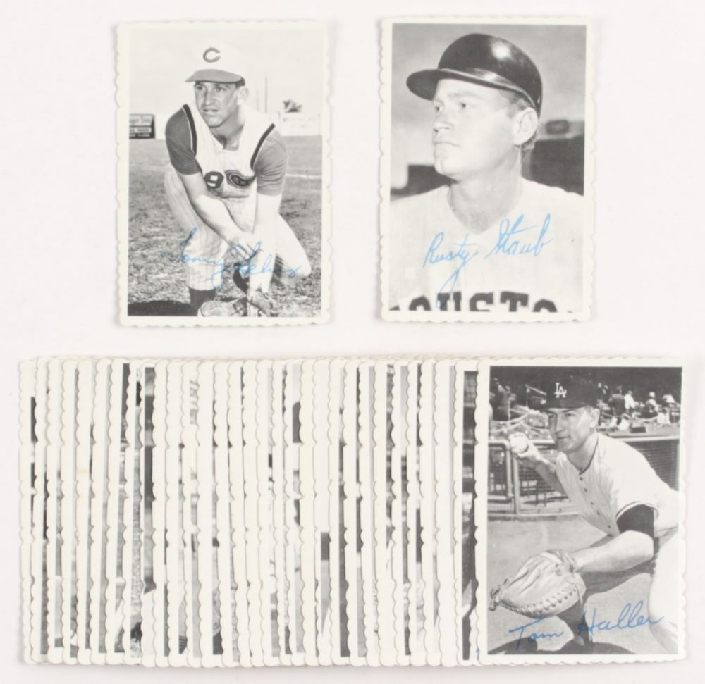 1969 Topps Deckle Edge Complete Set Of 33 Baseball Cards With