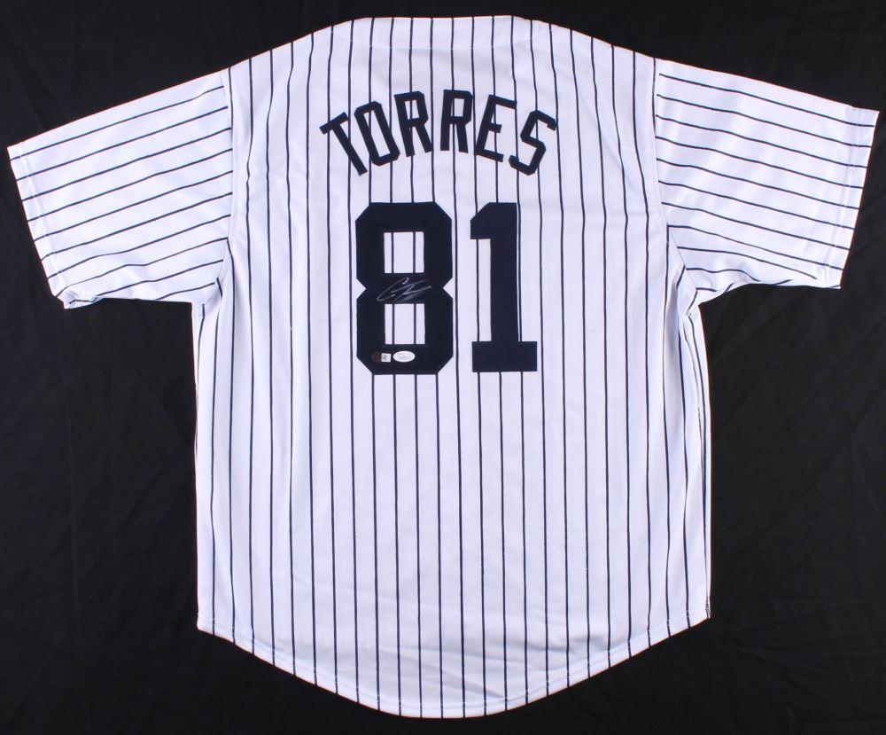 sale retailer ab63f 7222f Gleyber Torres Signed Yankees Jersey (JSA COA)