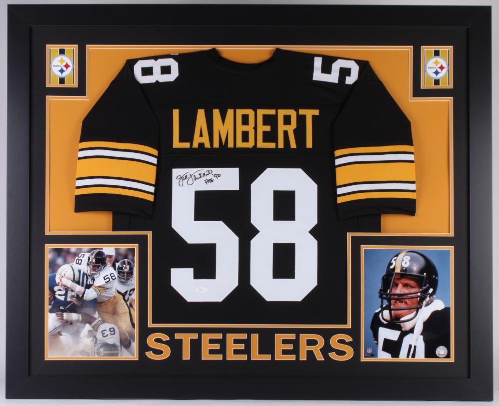 37d68016d0e Image 1   Jack Lambert Signed Steelers 35x43 Custom Framed Jersey Inscribed