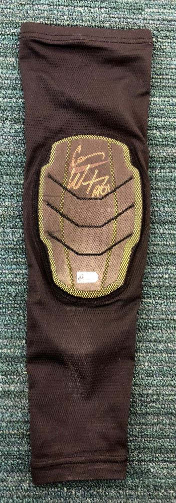sale retailer e5639 5bb99 Carson Wentz Signed Game-Used Nike Arm Sleeve Inscribed