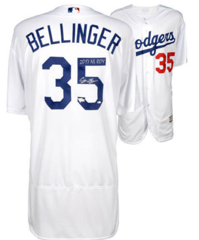 100% authentic 1f1f3 eea4a Cody Bellinger Signed Dodgers Jersey Inscribed