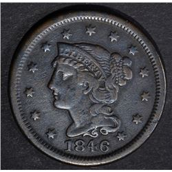 1846 LARGE CENT, VF+