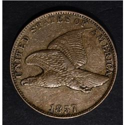 1857 FLYING EAGLE CENT, XF+
