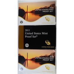 U.S. PROOF SETS: 2014, 2013, 2011