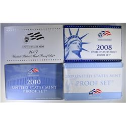 U.S. PROOF SETS: 2008, 2009, 2010, 2007
