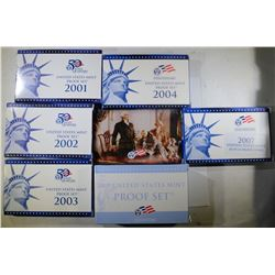 U.S. PROOF SETS: 2009, 2007, 2004, 2003,