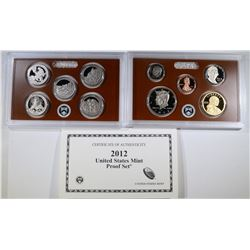2012 PROOF SET missing PRESIDENTIAL