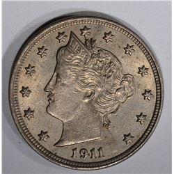 1911 LIBERTY V NICKEL  CH BU