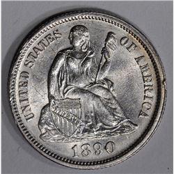 1890 SEATED LIBERTY DIME  CH BU