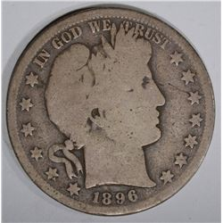 1896-S BARBER HALF DOLLAR  GOOD