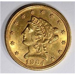 1904 $2 1/2 GOLD LIBERTY HEAD  CH BU+