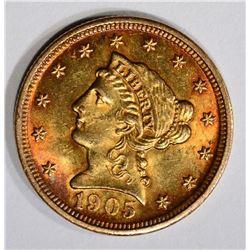 1905 $2 1/2 GOLD LIBERTY HEAD  CH BU+