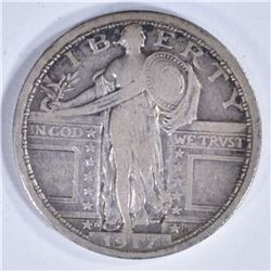 1917-D TYPE 1 STANDING LIBERTY QTR