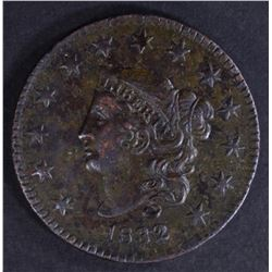 1832 LARGE CENT XF+