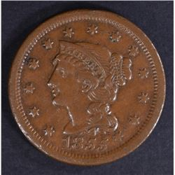 1855 LARGE CENT XF