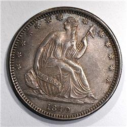 1840-O SEATED LIBERTY HALF AU/BU