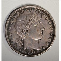 1906 D BARBER HALF DOLLAR  AU/BU