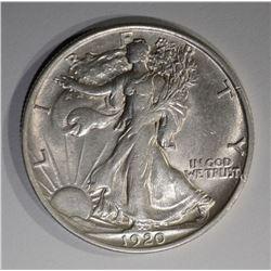 1920 WALKING LIBERTY HALF DOLLAR  AU/BU