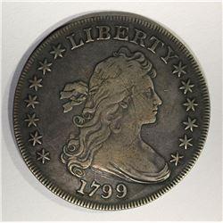 1799 BUST DOLLAR XF LIGHT SCRATCH