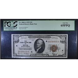 1929 $10 FEDERAL RESERVE BANK NOTE PCGS 65PPQ