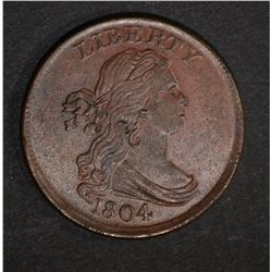 1804 DRAPED BUST HALF CENT  BU